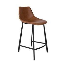 Dutchbone :: Krzesło barowe / hoker Franky niski - brązowe